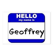 hello my name is geoffrey  Postcards (Package of 8