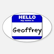 hello my name is geoffrey Oval Decal
