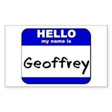 hello my name is geoffrey Rectangle Decal