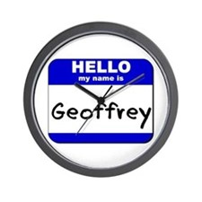 hello my name is geoffrey  Wall Clock