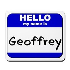 hello my name is geoffrey  Mousepad