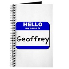 hello my name is geoffrey Journal