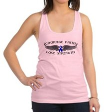 Rectal Cancer Courage Wings Racerback Tank Top