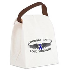 Rectal Cancer Courage Wings Canvas Lunch Bag