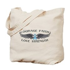 Prostate Cancer Courage Wings Tote Bag