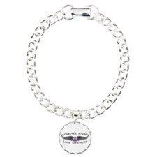 Pancreatic Cancer Courage Wings Bracelet