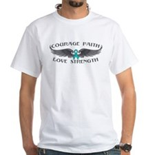 Ovarian Cancer Courage Wings Shirt