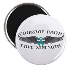 Ovarian Cancer Courage Wings Magnet