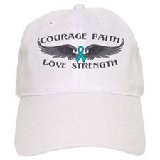 Ovarian Cancer Courage Wings Baseball Cap
