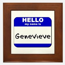 hello my name is genevieve  Framed Tile