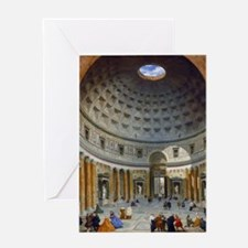 Interior of the Pantheon Rome Greeting Card