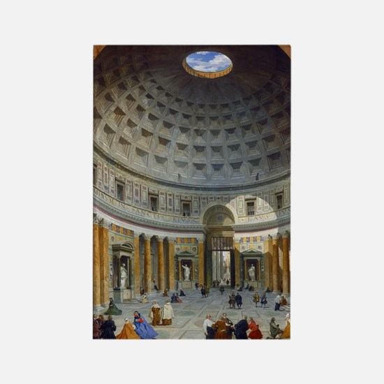 Interior of the Pantheon Rome Rectangle Magnet