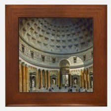 Interior of the Pantheon Rome Framed Tile