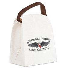 Oral Cancer Courage Wings Canvas Lunch Bag