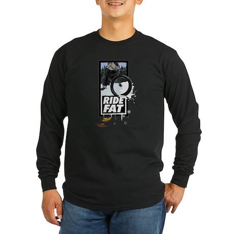 RIDE FAT! Fatbike design Long Sleeve T-Shirt