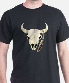 Cow Skull with Feather T-Shirt