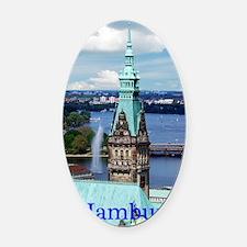 Hamburg Town Hall Oval Car Magnet