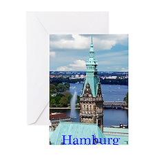 Hamburg Town Hall Greeting Card