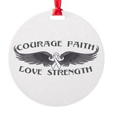 Mesothelioma Courage Wings Ornament