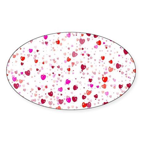Heart044 Sticker (Oval)