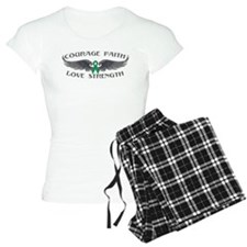 Liver Cancer Courage Wings Pajamas