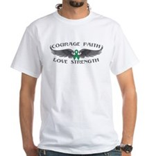 Liver Cancer Courage Wings Shirt