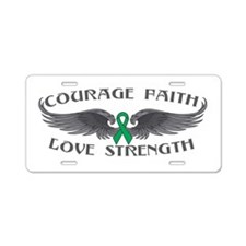 Liver Cancer Courage Wings Aluminum License Plate