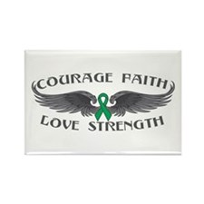 Liver Cancer Courage Wings Rectangle Magnet
