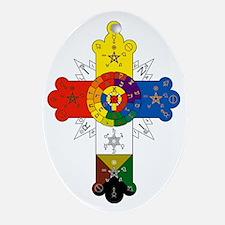 Rosicrucian Cross Oval Ornament