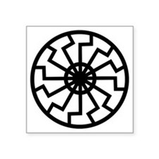 "Black Sun Square Sticker 3"" x 3"""