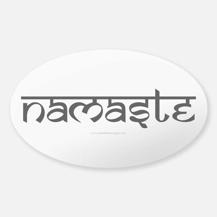 Namaste Yoga Ohm Decal