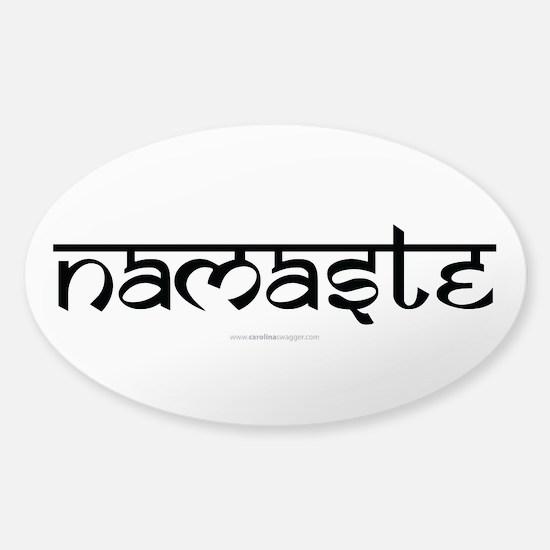 Namaste Yoga Ohm Sticker (Oval)