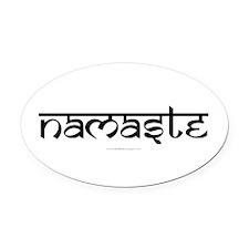 Namaste Yoga Ohm Oval Car Magnet