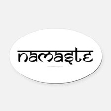 Namaste Yoga Ohm Oval Car Magnet