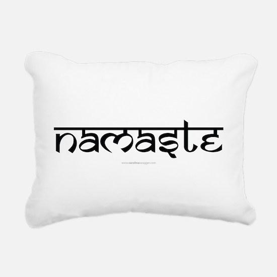 Namaste Yoga Ohm Rectangular Canvas Pillow
