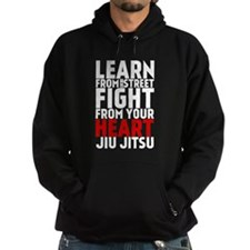 Learn Jiu-Jitsu - Cafe - Black Hoodie