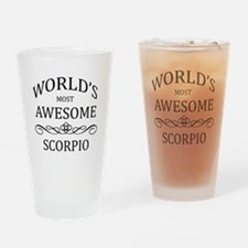 World's Most Awesome Scorpio Drinking Glass