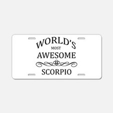 World's Most Awesome Scorpio Aluminum License Plat