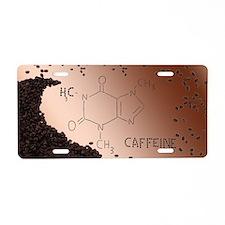 Caffeine Aluminum License Plate