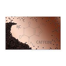Caffeine Rectangle Car Magnet