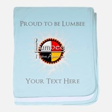 Personalized Proud to be Lumbee baby blanket