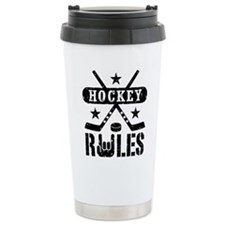 Hockey Rules Travel Mug