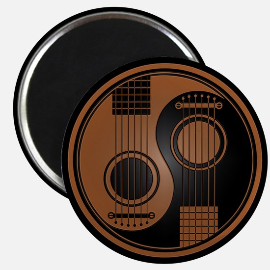 Brown Yin Yang Acoustic Guitars with Black Back Ma