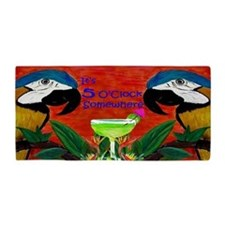 5 Oclock Parrot Beach Towel