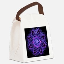 Pretty Purple Fractal Canvas Lunch Bag