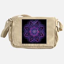 Pretty Purple Fractal Messenger Bag