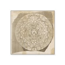 "Aztec Stone - Drawing Square Sticker 3"" x 3"""
