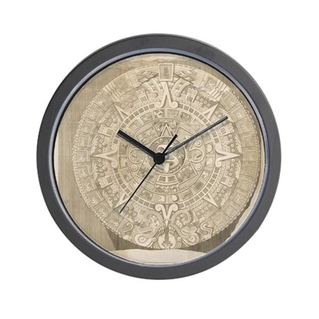 Aztec Stone - Drawing Wall Clock by listing-store-114807468