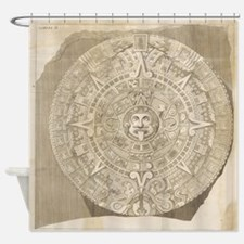 Aztec Stone - Drawing Shower Curtain