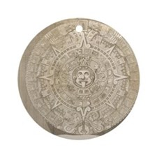 Aztec Stone - Drawing Round Ornament